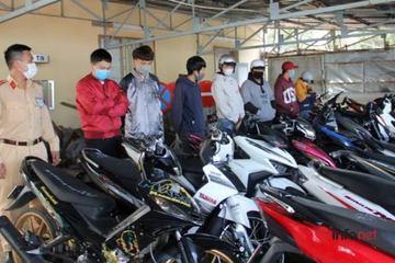 Đà Lạt: Triệu tập hàng chục thanh thiếu niên tổ chức đua xe trái phép