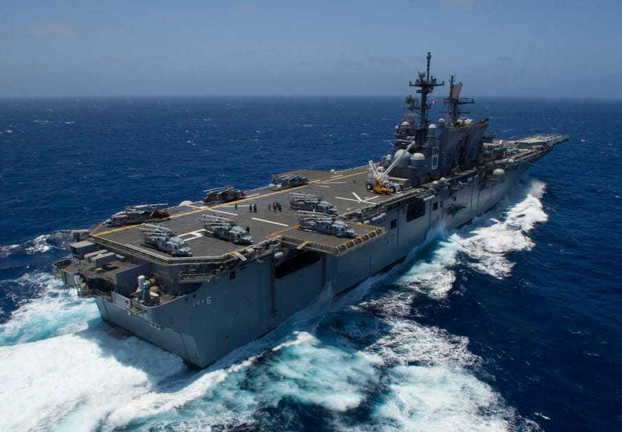 Tàu Hải Dương 8 của TQ hoành hành, hai chiến hạm Mỹ có mặt ở Biển Đông