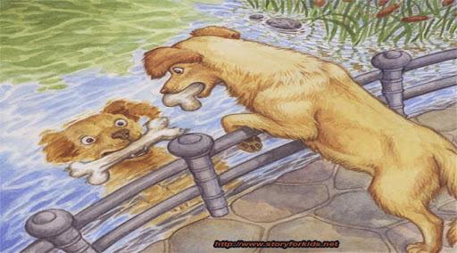 Bài học từ truyện ngụ ngôn: Chú chó tham ăn và cái bóng