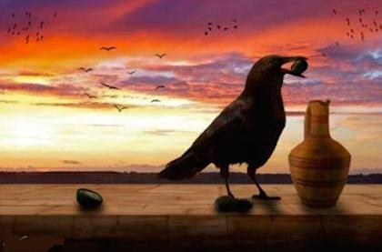 Truyện ngụ ngôn 'Con quạ và cái bình nước' hàm chứa bài học sâu sắc