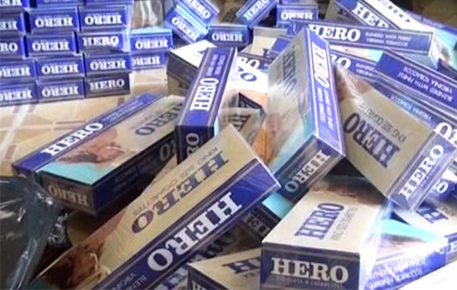 Bắt quả tang 4 đối tượng mua bán, tàng trữ gần 9.500 bao thuốc lá điếu nhập lậu