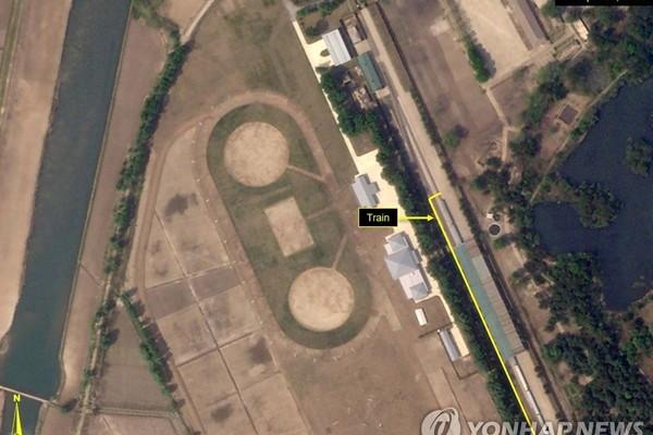 Đoàn tàu của Chủ tịch Triều Tiên Kim Jong-un lại xuất hiện ở Wonsan?