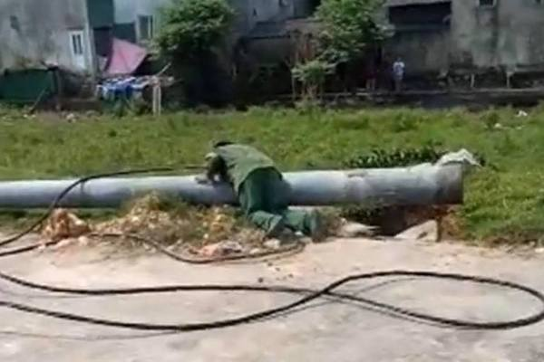 Giám đốc điện lực TP. Hà Tĩnh: Khả năng móng cốt bê tông non, thi công ẩu