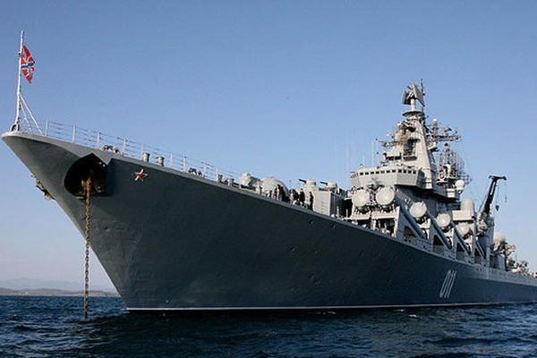 """Mỹ lo lắng khi tuần dương hạm """"khủng"""" nhất của Nga trở về Biển Đen?"""