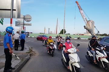 Đà Nẵng: Phân luồng gần thi công nút giao phía Tây cầu Trần Thị Lý, đi đường nào?