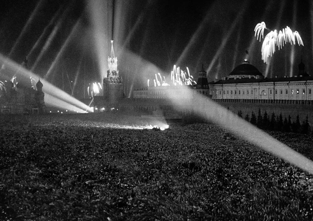 Hình ảnh chưa từng công bố về lễ kỷ niệm Ngày Chiến thắng tại Moscow năm 1945