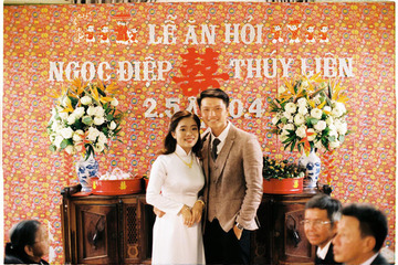 Bộ ảnh cưới 'ngược về quá khứ' ấn tượng của cặp đôi 9X Gia Lai