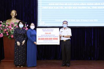 Trao 30 tỉ đồng xây dựng Bệnh xá trên đảo Nam Yết