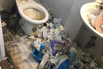 Rùng mình với căn phòng 'bẩn hơn bãi rác' của cô gái trẻ