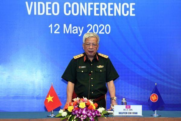 Hội nghị trực tuyến Nhóm làm việc quan chức Quốc phòng cấp cao ASEAN