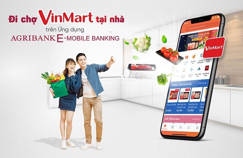 """""""Đi chợ VinMart Online"""" ngay trên ứng dụng Agribank E-Mobile Banking"""