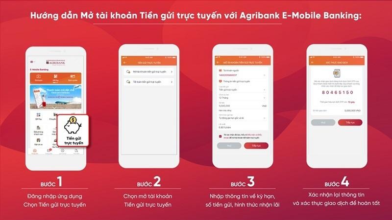 Mở 'sổ tiết kiệm' siêu tiện lợi trên ứng dụng Agribank E-Mobile Banking