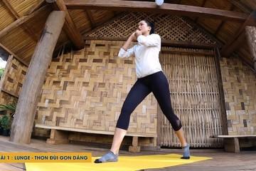 H'Hen Niê hướng dẫn bài tập cho vòng eo thon, vòng 3 đạt 100cm