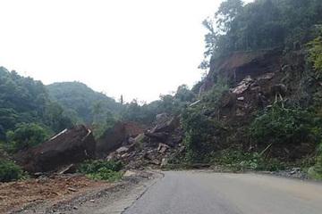 Sạt lở đất vùi lấp 1 nhà dân và 50m tỉnh lộ 207