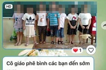 Cô giáo chụp ảnh học sinh mắc lỗi gửi nhóm phụ huynh đã vi phạm điều gì?