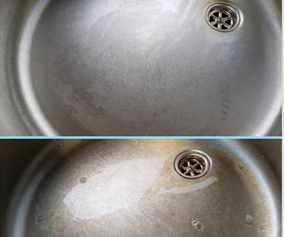 mẹo tẩy rửa chậu rửa bát hiệu quả