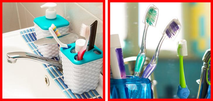 mẹo làm sạch bàn chải đánh răng