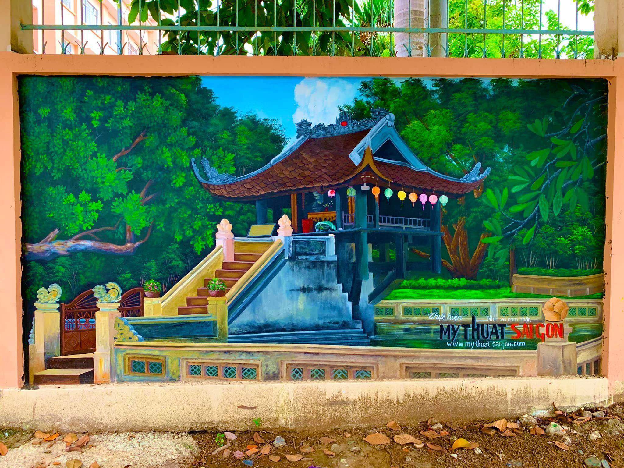 vẽ tranh bích họa sống động tại trường học