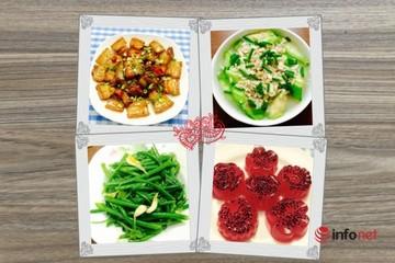 Bữa cơm ngon với thực đơn 4 món hấp dẫn, dễ làm