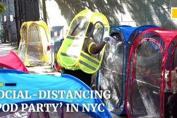 Bữa tiệc đông người 'độc và lạ' ở tâm dịch New York giữa lúc cách ly