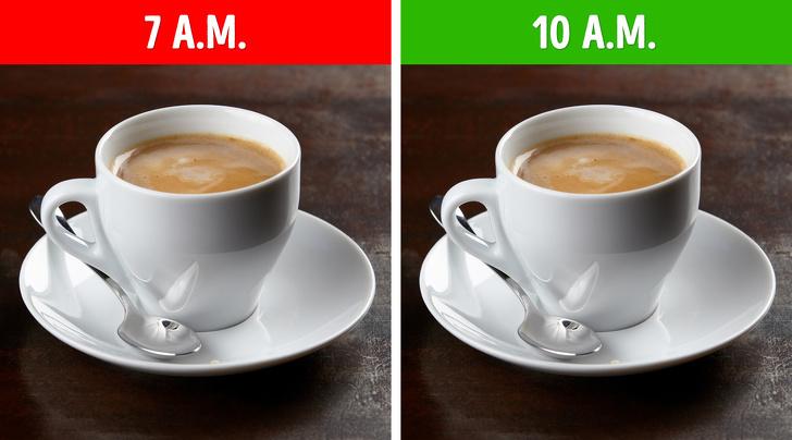 thói quen uống cà phê sáng
