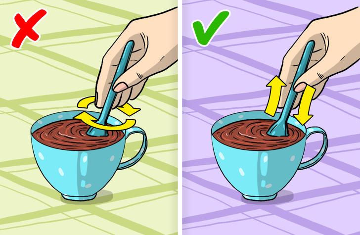 mẹo vặt gia đình khuấy đường trong cốc