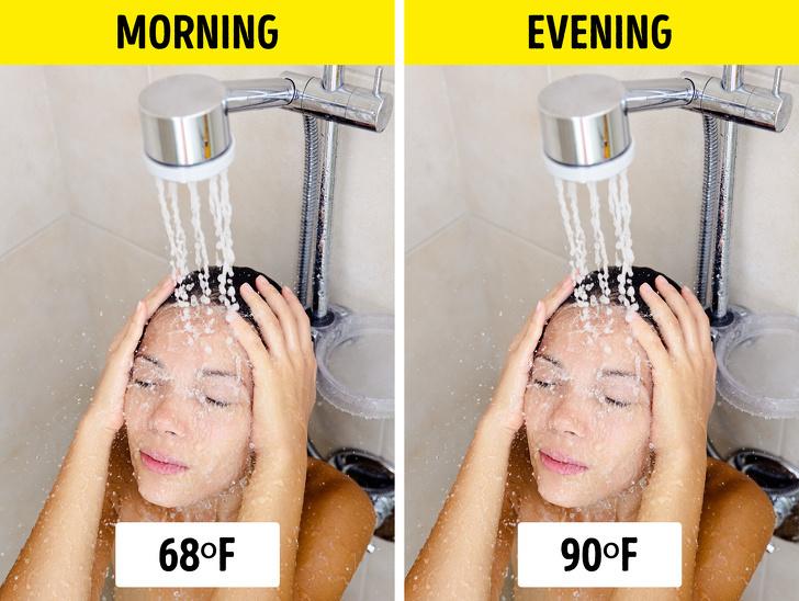 thói quen tắm sáng hay tối tốt hơn