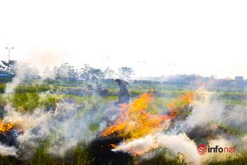 Khói rơm bủa vây cao tốc Hà Nội - Ninh Bình: Ẩn họa khôn lường mùa nắng nóng