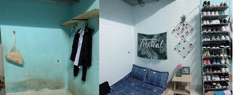Phòng trọ cũ kĩ 'biến hình' thành không gian sống xinh đẹp, giá 'rẻ giật mình'