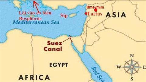 Bước đi mới của ông Putin nhằm 'hất cẳng' Mỹ ở Địa Trung Hải