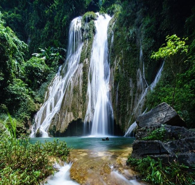 Du lịch Na Hang, Tuyên Quang không thể không ghé thác Khuổi Nhi