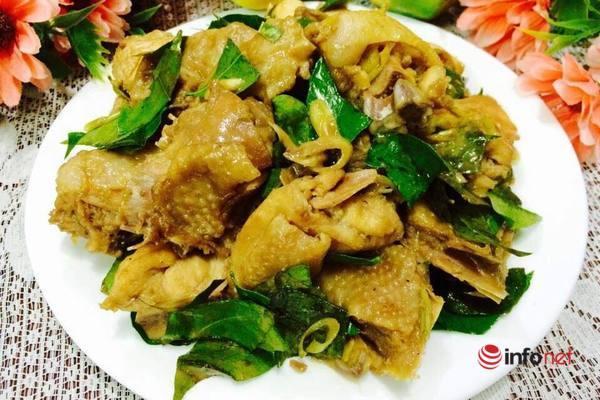 thịt gà rang ngon cơm tối