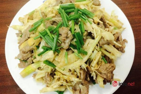thịt bò xào măng là món ngon mùa hè dễ ăn