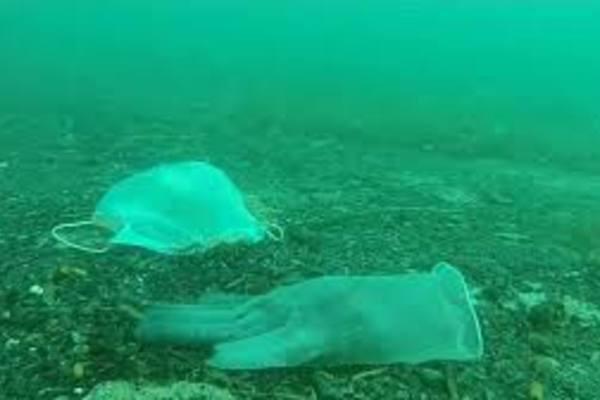 Khẩu trang, găng tay y tế qua sử dụng xâm nhập lòng biển Địa Trung Hải
