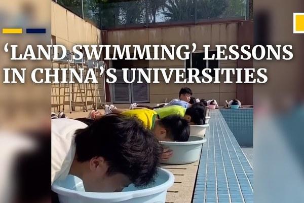 Độc đáo học bơi trên cạn giữa mùa Covid-19