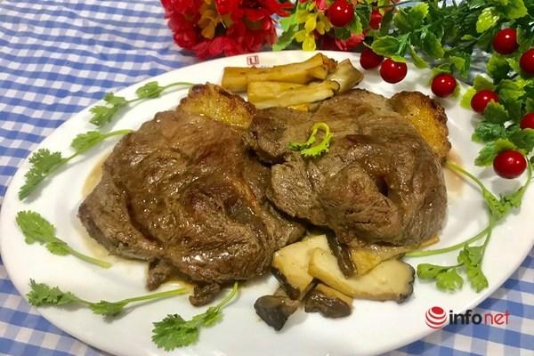 chế biến thịt bò áp chảo