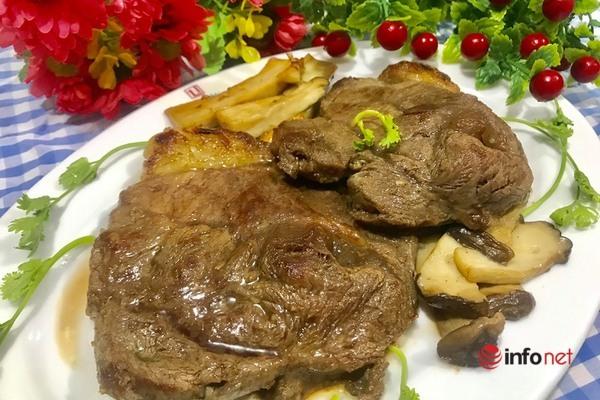 thịt bò áp chảo nhanh