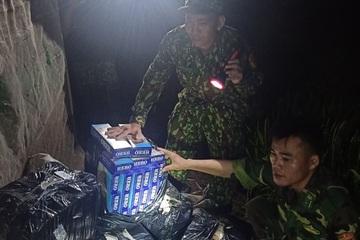 Biên phòng An Giang thu giữ 2.750 gói thuốc lá nhập lậu