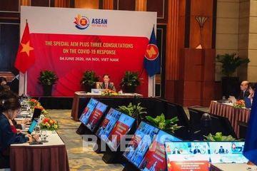 Hội nghị Bộ trưởng Kinh tế ASEAN+3 trực tuyến đặc biệt về ứng phó dịch Covid-19