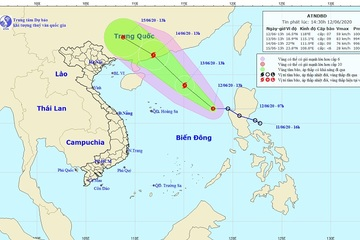 Áp thấp nhiệt đới trên Biển Đông khả năng mạnh thành bão trong 24 giờ tới