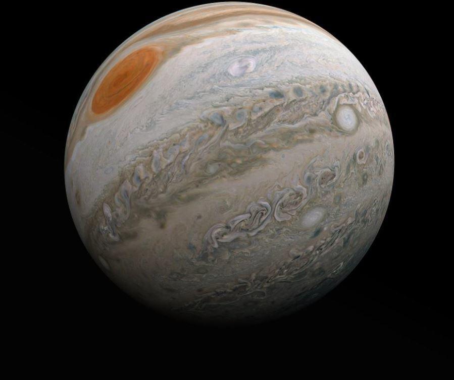 Khoảnh khắc hiếm có đầy mê hoặc về mây trên sao Mộc