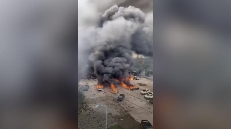 Trung Quốc: Xe bồn phát nổ kinh hoàng, hơn 190 người thương vong