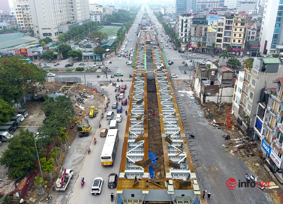 Toàn cảnh cầu vượt Nguyễn Văn Huyên - Hoàng Quốc Việt hơn 500 tỷ sắp được hoàn thành