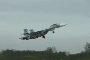 Su-27 áp sát, đánh chặn oanh tạc cơ B-52H Mỹ gần biên giới Nga