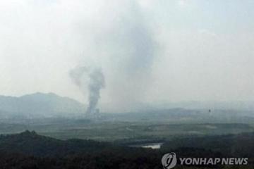 Văn phòng liên lạc ở biên giới Triều Tiên bị đánh sập