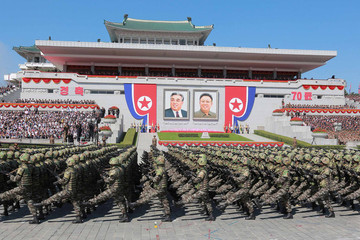 Quân đội Triều Tiên tập trận trong khu phi quân sự