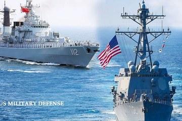 Chiến hạm Mỹ - Trung áp sát nhau ở Biển Đông