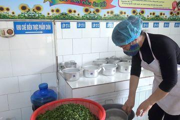 Thanh Hóa: Chú trọng an toàn thực phẩm trong bếp ăn bán trú trường mầm non