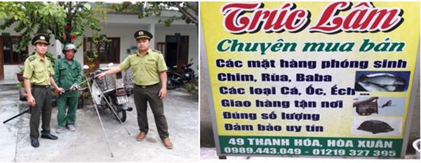 """Đà Nẵng: Phạt cửa hiệu ngang nhiên quảng cáo """"chuyên mua bán các mặt hàng phóng sinh"""""""