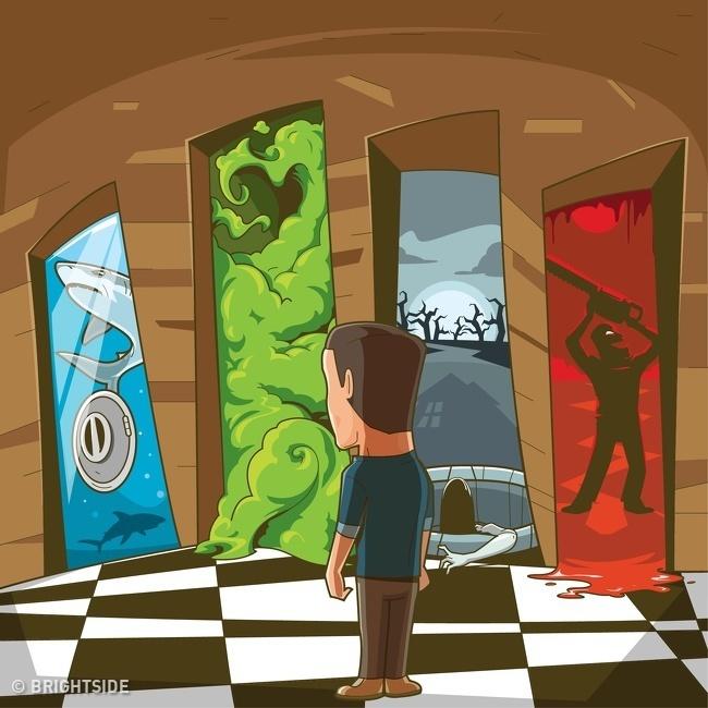 Cuối tuần luyện trí não với 3 câu đố chọn cửa thoát hiểm